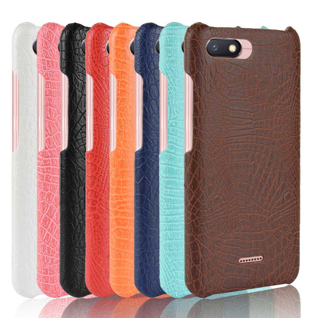 "SUBIN New Case For Xiaomi Redmi 6A 5.45"" Luxury Crocodile Skin PU Leather Back Cover Phone Protective Case Phonebag For Mi6A"