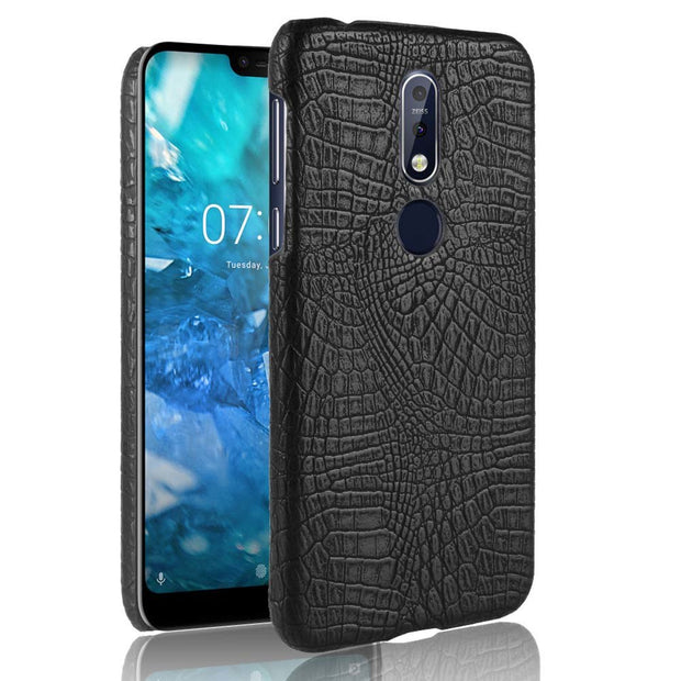 "SUBIN New PU Leather Case For Nokia 7.1 5.84"" Crocodile Skin Back Cover Phone Protective Cases Phoenbag For Nokia7.1 N7.1"