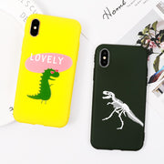 SUYACS Case For IPhone X 6 6S 7 8 Plus Letters Hello Lovely Animal TPU Soft Protective Phone Back Cover Case Capa Shell Coque