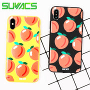 SUYACS Phone Case For IPhone 6 6S 7 8 Plus X Colors Fruits Pattern Teenage Style Soft TPU Graphic Phone Cases Coque Fundas Bag