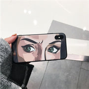 Selfie Face Illustration IPhoneX Phone Case Iphone7 8Plus 6S All-inclusive Soft Shel Tide
