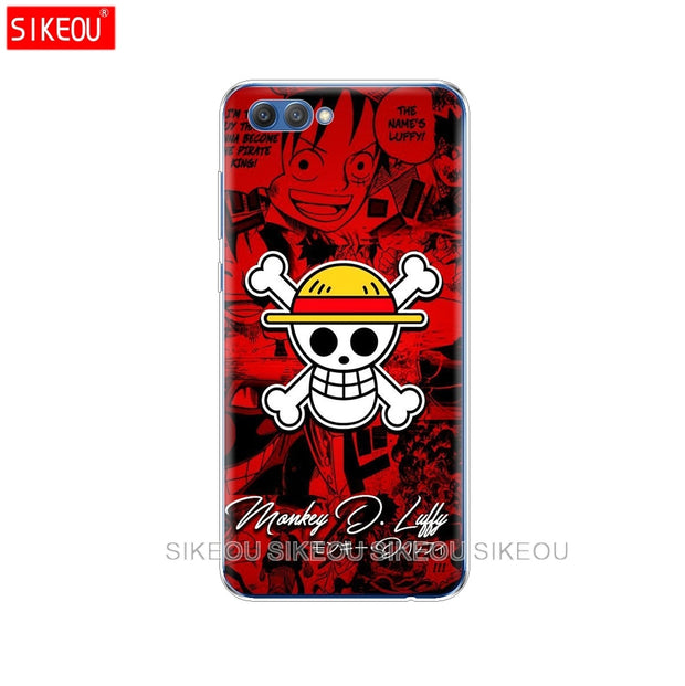 Silicon Cover Phone Case For Huawei Honor 10 V10 3c 4C 5c 5x 4A 6A 6C Pro 6X7X 6 7 8 9 LITE One Piece Pirates Logo Anime Cartoon