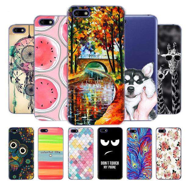"Silicone Case On Huawei Honor 7A 5.45"" Inch Soft TPU Phone Case Russian Back Cover For Huawei Honor 7A 7 A DUA-L22 Bumper Coque"