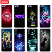 Silicone Cover Case For Xiaomi Mi 8 8SE A1 A2 Lite 5 5S 5X 6 Mi5 MI6 NOTE 3 MAX Mix 2 2S Neon Pattern Print