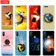 Silicone Cover Case For Xiaomi Mi 8 8SE A1 A2 Lite 5 5S 5X 6 Mi5 MI6 NOTE 3 MAX Mix 2 2S Fire Volleyball Sport Water
