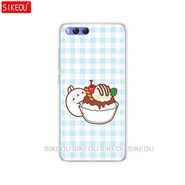 Silicone Cover Case For Xiaomi Mi 8 8SE A1 A2 Lite 5 5S 5X 6 Mi5 MI6 NOTE 3 MAX Mix 2 2S Molang Rabbits Kawaii Box Potatoes