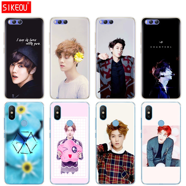 Silicone Cover Case For Xiaomi Mi 8 8SE A1 A2 Lite 5 5S 5X 6 Mi5 MI6 NOTE 3 MAX Mix 2 2S Kpop Exo LUHAN Park Chanyeol