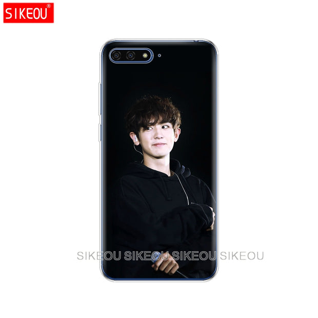 Silicone Cover Phone Case For Huawei Honor 7A PRO 7C Y5 Y6 Y7 Y9 2017 2018 Prime Kpop Exo LUHAN Park Chanyeol