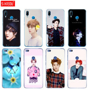 Silicone Cover Phone Case For Huawei P20 P7 P8 P9 P10 Lite Plus Pro 2017 P Smart Kpop Exo LUHAN Park Chanyeol