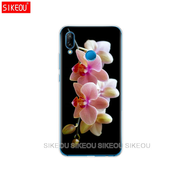 Silicone Cover Phone Case For Huawei P20 P7 P8 P9 P10 Lite Plus Pro 2017 P Smart Orchid Flowers Colorful