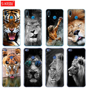 Silicone Cover Phone Case For Huawei P20 P7 P8 P9 P10 Lite Plus Pro 2017 P Smart Lion Tiger Fashion Lovely Animal