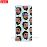 Silicone Cover Phone Case For Huawei P20 P7 P8 P9 P10 Lite Plus Pro 2017 P Smart 2018 Drake