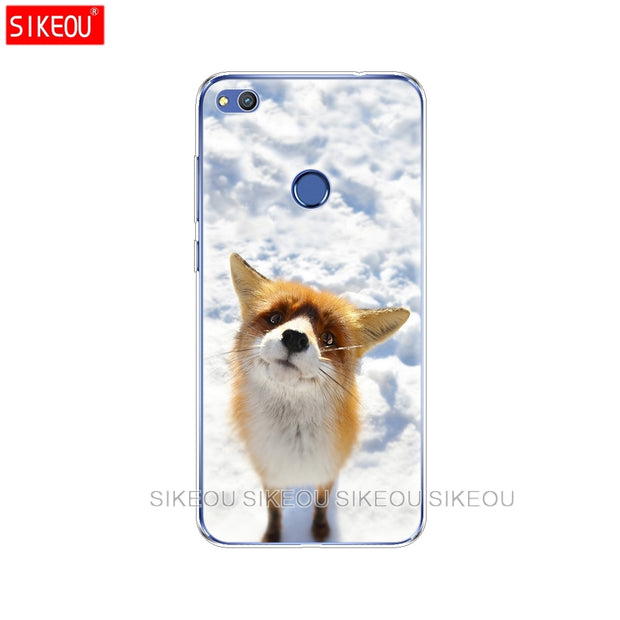 Silicone Cover Phone Case For Huawei P20 P7 P8 P9 P10 Lite Plus Pro 2017 P Smart 2018 Sly Fox