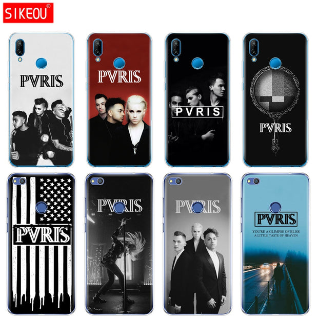 Silicone Cover Phone Case For Huawei P20 P7 P8 P9 P10 Lite Plus Pro 2017 P Smart 2018 Pvris Band
