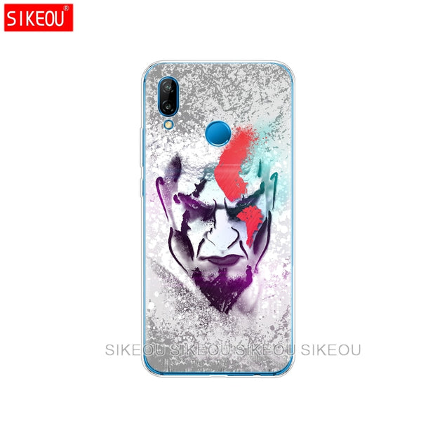 Silicone Cover Phone Case For Huawei P20 P7 P8 P9 P10 Lite Plus Pro 2017 P Smart 2018 God Of War Kratos