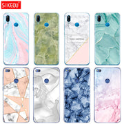 Silicone Cover Phone Case For Huawei P20 P7 P8 P9 P10 Lite Plus Pro 2017 P Smart 2018 Chic Marble