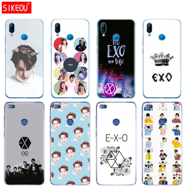 Silicone Cover Phone Case For Huawei P20 P7 P8 P9 P10 Lite Plus Pro 2017 P Smart 2018 EXO Band