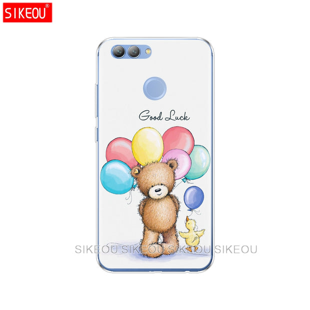 Silicone Cover Phone Case For Huawei P20 P8 P9 P10 Lite Plus Pro 2017 P Smart 2018 Animals Hedgehogs Love Heart Balloon