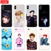 Silicone Cover Phone Case For Iphone 6 X 8 7 6s 5 5s SE Plus 10 Case Kpop Exo LUHAN Park Chanyeol
