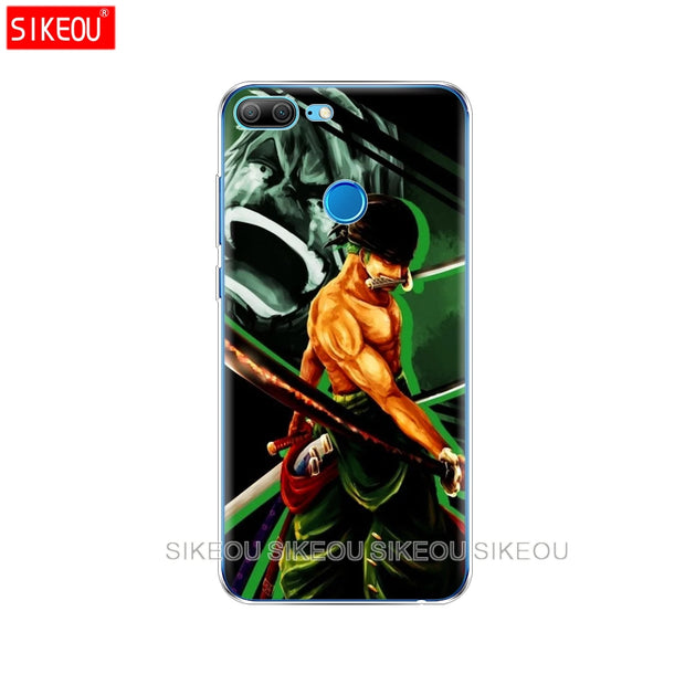 Silicone Cover Phone Case For Huawei Honor 10 V10 3c 4C 5c 5x 4A 6A 6C Pro 6X 7X 6 7 8 9 LITE One Piece Roronoa Zoro Anime