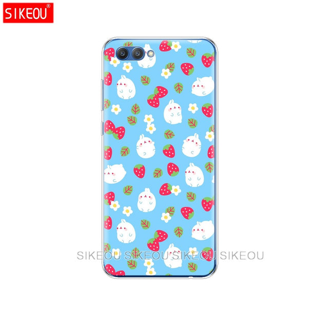 Silicone Cover Phone Case For Huawei Honor 10 V10 3c 4C 5c 5x 4A 6A 6C Pro 6X 7X 6 7 8 9 LITE Molang Rabbits Kawaii Box Potatoes