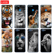 Silicone Cover Phone Case For Huawei Honor 10 V10 3c 4C 5c 5x 4A 6A 6C Pro 6X 7X 6 7 8 9 LITE Lion Tiger Fashion Lovely Animal
