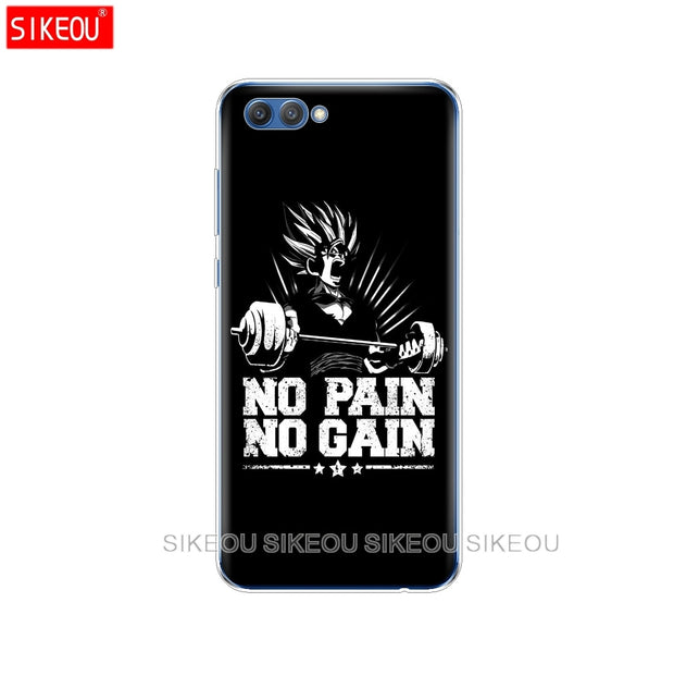 Silicone Cover Phone Case For Huawei Honor 10 V10 3c 4C 5c 5x 4A 6A 6C Pro 6X 7X 6 7 8 9 LITE No Pain No Gain Gym Fitness Quote