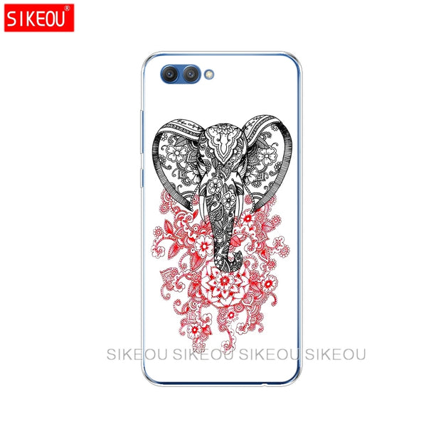Silicone Cover Phone Case For Huawei Honor 10 V10 3c 4C 5c 5x 4A 6A 6C Pro 6X 7X 6 7 8 9 LITE Totem Elephant Aztec Indian Flower
