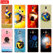 Silicone Cover Phone Case For Huawei Mate 7 8 9 10 Pro LITE Fire Volleyball Sport Water