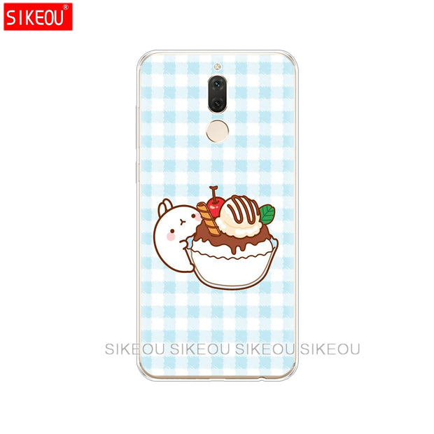 Silicone Cover Phone Case For Huawei Mate 7 8 9 10 Pro LITE Molang Rabbits Cutest Kawaii Box Potatoes