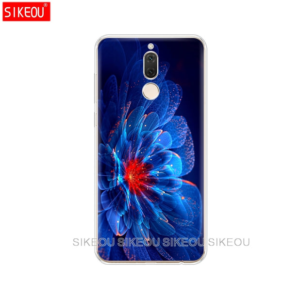 Silicone Cover Phone Case For Huawei Mate 7 8 9 10 Pro LITE Neon Pattern Print