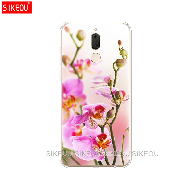 Silicone Cover Phone Case For Huawei Mate 7 8 9 10 Pro LITE Orchid Flowers Colorful