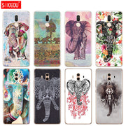 Silicone Cover Phone Case For Huawei Mate 7 8 9 10 Pro LITE Totem Elephant Aztec Indian Flower