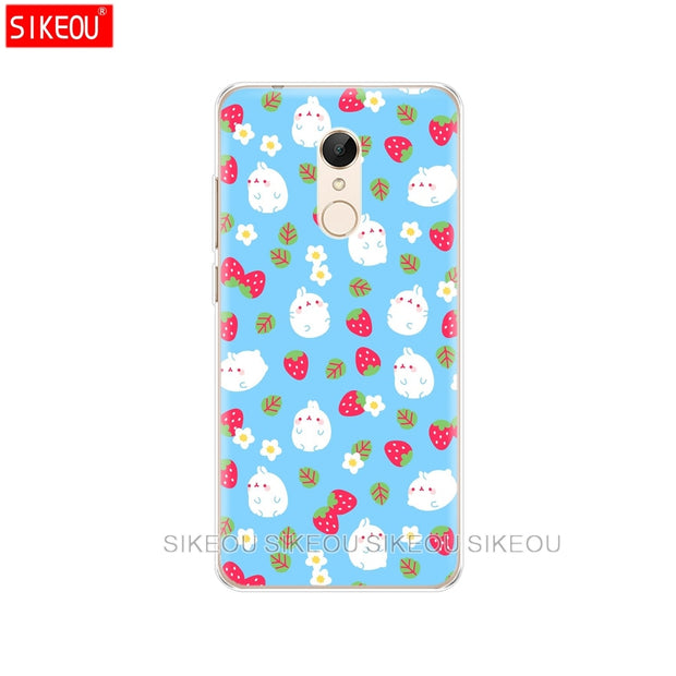 Silicone Cover Phone Case For Xiaomi Redmi S2 Y2 6 5 2 3 3s Pro PLUS Redmi Note 4 4X 4A 5A 6A Molang Rabbits Kawaii Box Potatoes