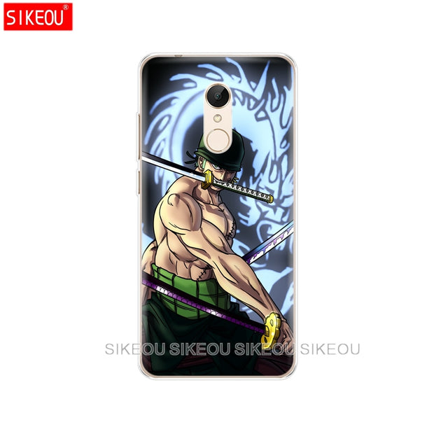 Silicone Cover Phone Case For Xiaomi Redmi S2 Y2 6 5 2 3 3s Pro PLUS Redmi Note 4 4X 4A 5A 6A One Piece Roronoa Zoro Anime