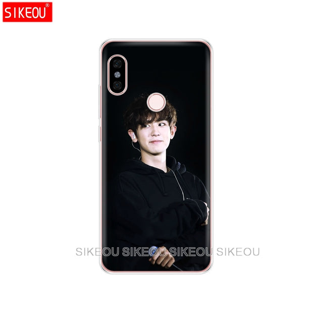 Silicone Cover Phone Case For Xiaomi Redmi S2 Y2 6 5 2 3 3s Pro PLUS Redmi Note 4 4X 4A 5A 6A Kpop Exo LUHAN Park Chanyeol