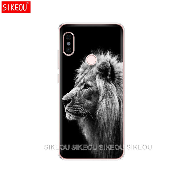 Silicone Cover Phone Case For Xiaomi Redmi S2 Y2 6 5 2 3 3s Pro PLUS Redmi Note 4 4X 4A 5A 6A Lion Tiger Fashion Lovely Animal