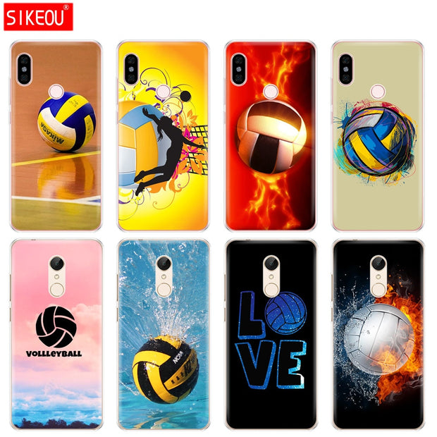Silicone Cover Phone Case For Xiaomi Redmi S2 Y2 6 5 2 3 3s Pro PLUS Redmi Note 4 4X 4A 5A 6A Fire Volleyball Sport Water