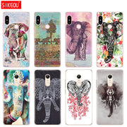 Silicone Cover Phone Case For Xiaomi Redmi S2 Y2 6 5 2 3 3s Pro PLUS Redmi Note 4 4X 4A 5A 6A Totem Elephant Aztec Indian Flower