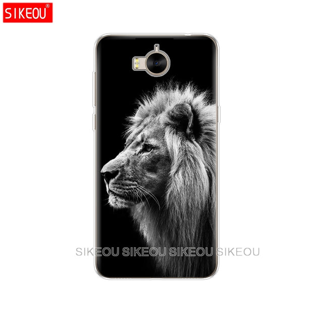 Silicone Phone Cover Case For Huawei Y3 Y6 Y5 2 II 2017 Nova 3e 2s 2 LITE Plus Lion Tiger Fashion Lovely Animal