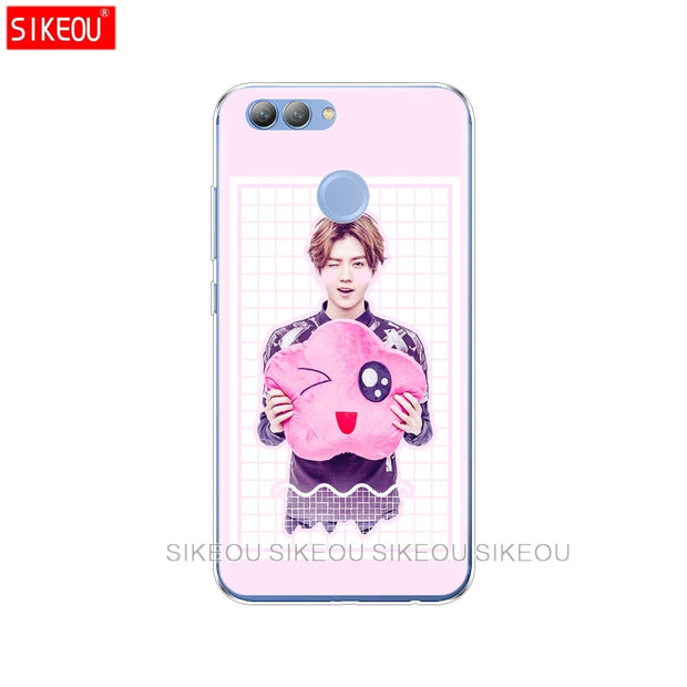 Silicone Phone Cover Case For Huawei Y3 Y6 Y5 2 II 2017 Nova 3e 2s 2 LITE Plus Kpop Exo LUHAN Park Chanyeol