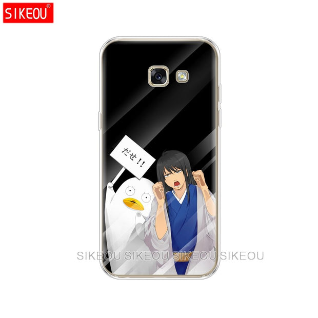 Silicone Phone Case Cover For Samsung Galaxy A6 A8 2018 A3 A310 A5 A510 A7 2016 2017 Japanese Anime Girl Touch Glass Kawaii