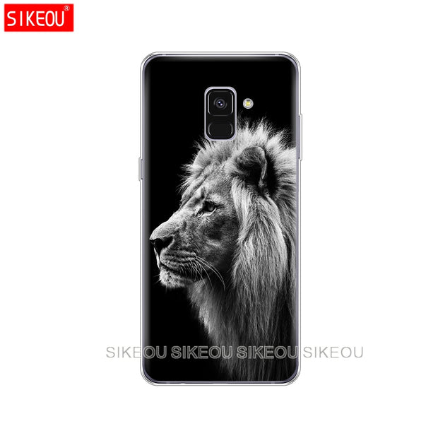 Silicone Phone Case Cover For Samsung Galaxy A6 A8 2018 A3 A310 A5 A510 A7 2016 2017 Lion Tiger Fashion Lovely Animal