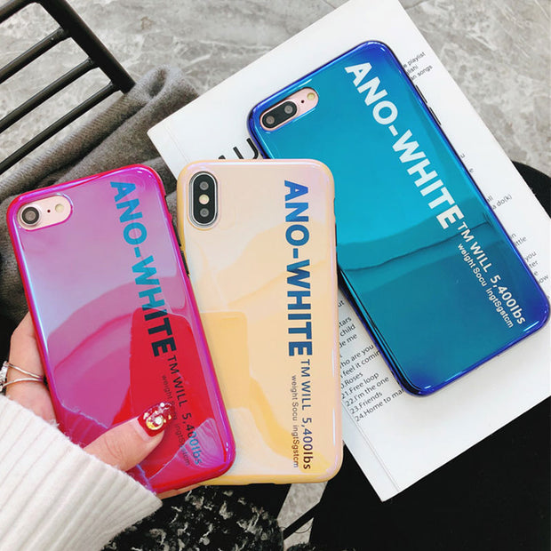 Simple Blue Light Silicone Case For IPhone 7 Case Cover IPhone 8 Plus Fitted Back Cover For IPhone 6 6S Coque IPhone X Soft Case