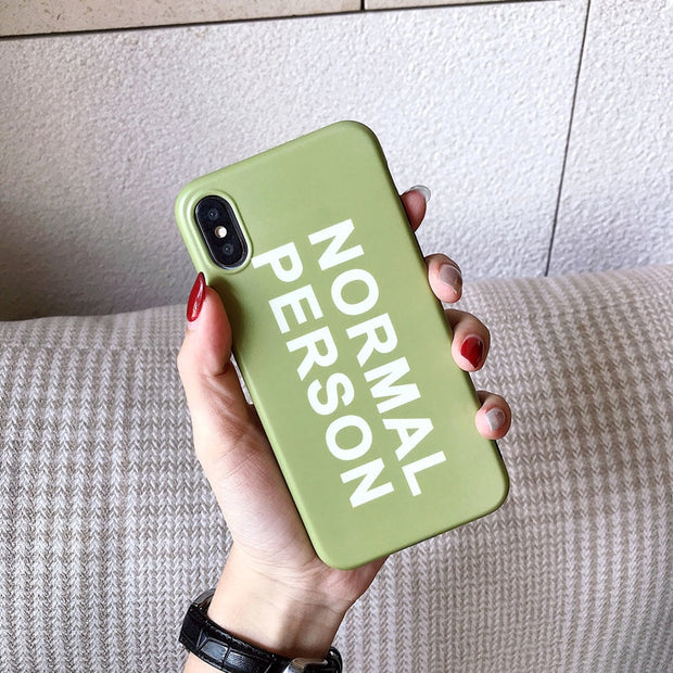Simple Couples Letter Phone Case For Iphone X Case For Iphone 6 6S 7 8 Plus Funny Words Back Cover Fashion Soft TPU Cases Coque
