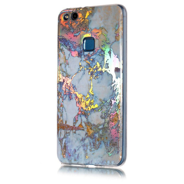 Soft Plating Phone Case SFor Huawei P10 Lite Case Luxury IMD Marble Silicone Soft TPU Case For Huawei P10 Lite Back Cover Capa