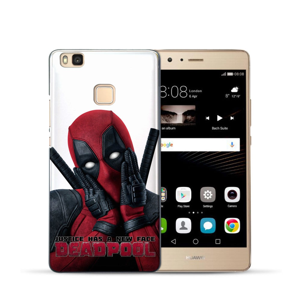 Soft TPU Cover For Coque Huawei P8 Lite 2015 Case Deadpool For ...