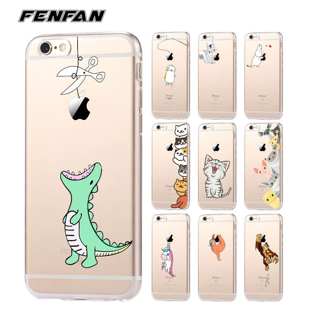 Soft silicone TPU for coque iPhone 7 case 5 5S 6 6S 7 8 Plus Cute 620x