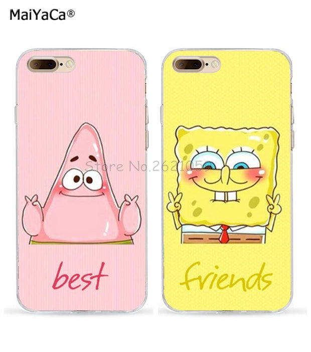 Spongebob And Patrick Best Friends Love Pair Soft Tpu Case For Iphone Nox Cases