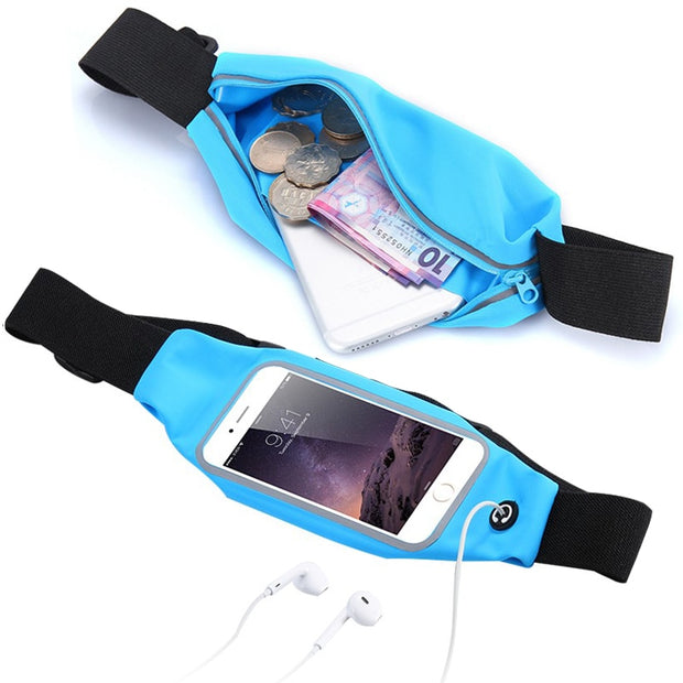 "Sports Case For Micromax Smartphone 5.7"" 5"" Running Belt Bag Waist Pocket Universal Case Cover 5.5"" Jog Waterproof Workout Cover"